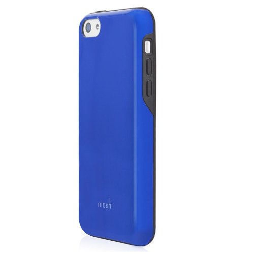 save off cad54 b6a57 Moshi iGlaze Remix for iPhone 5c Diablo Blue