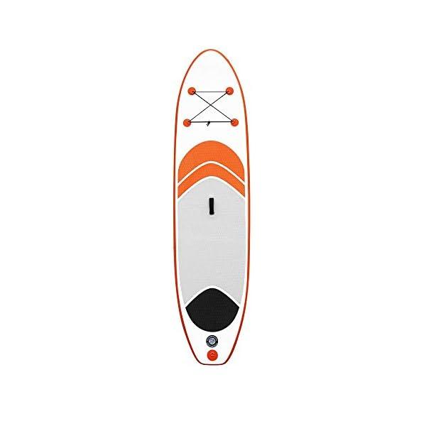 Stand Up Paddel Gonfiabile 10 stand SUP insieme del bordo conveniente in alluminio Pompa Paddle Kit di riparazione Zaino… 4 spesavip