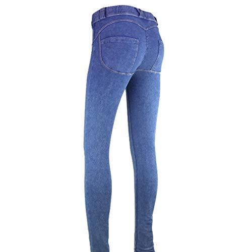 Push Up 1 Stretch Donna Skinny Moda Fashion Primavera Denim Lunghi Chiaro Dimagranti Casuale Boyfriend Jeans Blu Leggings Pantaloni In 41nUInt