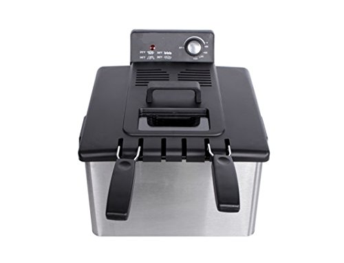 4L Stainless-Steel Deep Fryer Electric Countertop Restaurant 1700W w/Basket US (Deep Fryer Non Electric)