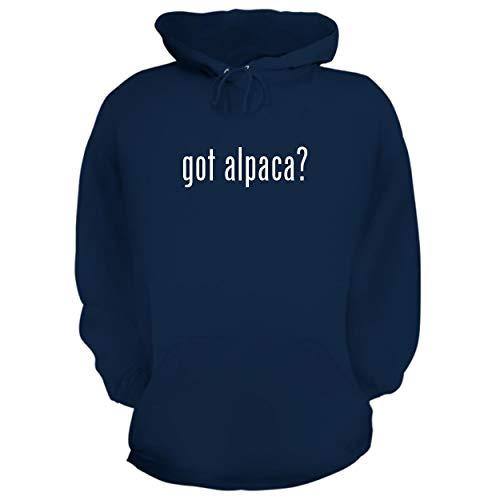 BH Cool Designs got Alpaca? - Graphic Hoodie Sweatshirt, Navy, Small
