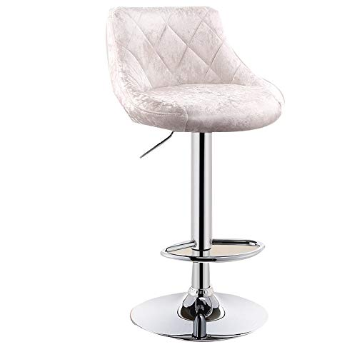 (WEIYV- Chairs, Bar Chair Lifting Household Stool Front Desk Bar Barstool Modern Simple High Stool Backrest High Bar Stool Rotate (Color : H Tiger Skin 41cm, Size : A))