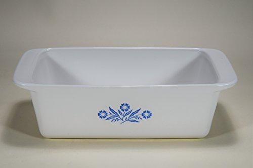 Vintage Corning Ware CORNFLOWER BLUE pattern 2 QUART MEAT LOAF BREAD PAN OBLONG BAKING DISH CASSEROLE 9