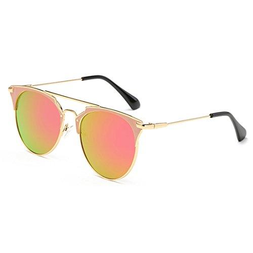 Cat Glasses de Oro Eye Violeta unisex de UV Vintage Sun 400 afas sol Marco de Gafas Metal Aiweijia moda W8cqTnXHy
