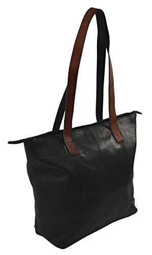Women's High-end Genuine Leather Fashion Tote Handbag - Double Large Tote Strap