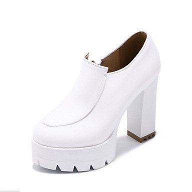 Wuyulunbi@ Zapatos De Mujer Moda Invierno Botas Botas Chunky Talón Puntera Redonda Botines/Botines Para Vestimenta Casual Blanco Y Negro,Negro,Us5 / Ue35 / Uk3 / Cn34 Negro
