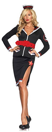 Sailor Dance Recital Costumes (Sultry Sailor Costume Leg Avenue Sexy Sailor Dress Role Play Girl Sailor)