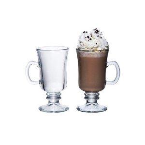 Libbey's Irish Coffee Hot Chocolate Coffee Glasses 24cl/240ml NEW (4pc)