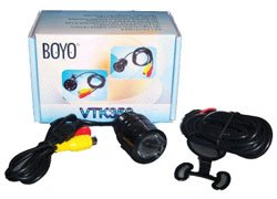 Hi-Res Keyhole Style Universal Rearview Back-Up Camera With Night Vision-2Pack - Boyo Vtk350 Night Vision