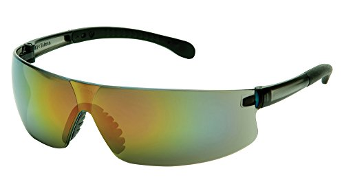 Pyramex S7255S Provoq Lightweight Safety Glasses, Multi-Color Mirror Lens