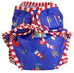 Kushies Reusable Swim Diaper, Small, Nautical Blue