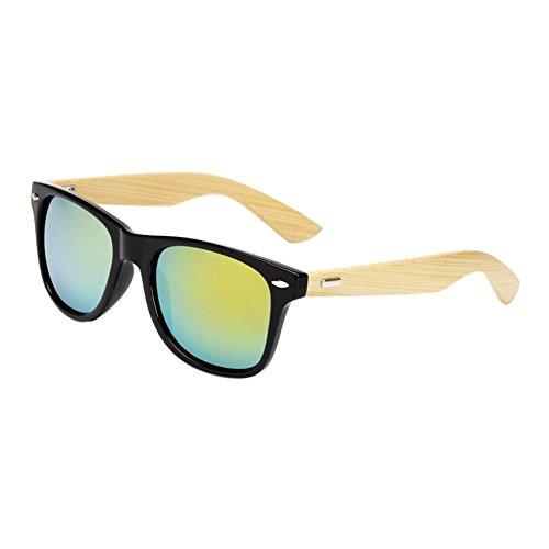 Meijunter Hommes soleil de Des Arms Lunettes Glare Cadre Noir Femmes Cru Bois lunettes de Anti protection Bambou Or Eyewear UV400 rxACZrnq