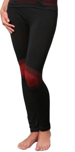 Para mujer de esquí sin prendas, ropa al aire libre, de flexible material de microfibra disponible como pantalón camisa. De Vincent Creation, todo el año, mujer, color  - Hose schwarz/rot, tamaño Larg - Hose schwarz/rot