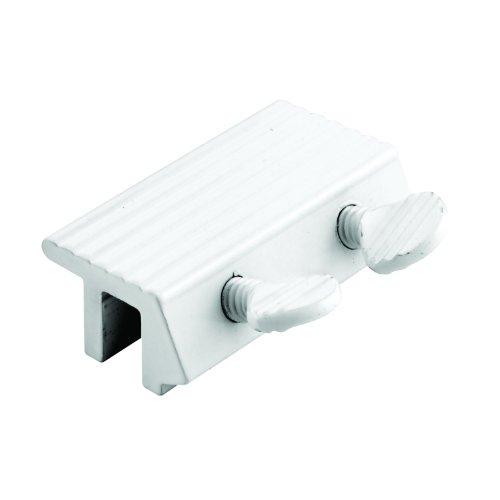 Window Double Thumb Screw Lock (Prime-Line Products U 9807 Sliding Window Lock, 1/4 in., Extruded Aluminum, White, Double Thumbscrew)