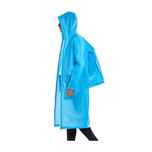 L Poncho Extérieure Zipper Pour Ocre Waterproof Jxjjd Bleu Noir Large couleur Adult Long P0ZqdUx