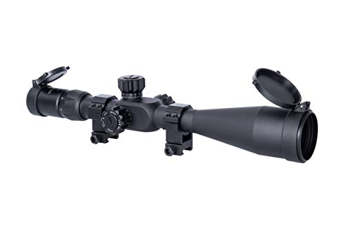 Monstrum Tactical 6-24x50 Rifle Scope with First Focal Plane (FFP) MOA Reticle and Adjustable Objective Lens (Black)