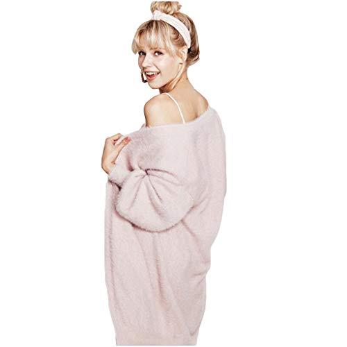 Pijamas Size Black Larga Servicio Calientes One Ropa Mujer color Manga Invierno Casero Size Baño Suelta Bata De Dormir Punto qUFwES