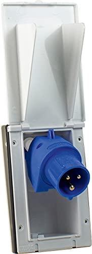 31F2MEjcHGS as - Schwabe CEE-Caravan-Einspeisungsstecker 230 V / 16 A / 3-polig – Outdoor Anbau-Stecker mit Klappdeckel – 3-poliger…