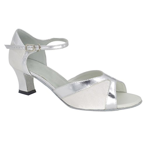 Buge Femmes Peep Toe Sandales Latin Salsa Tango Chaussures De Danse De Salon Avec 2.2 Talon
