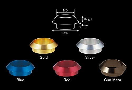 ジャストエース(Justace) KN/HL用 ワインディングチェック(アルミ) ゴールド WCA-FP12G 内径12mm 外径18mm 高さ3mm