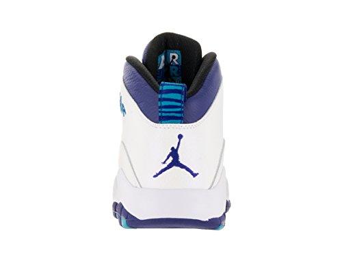 Jordan Nike Mens Retrò Aria 10 Scarpa Da Basket Bianco / Concord / Laguna Blu / Nero