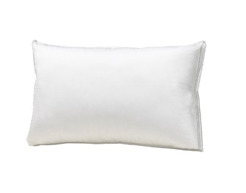 (Sleep Solutions Luxury 100% Combed Cotton Sateen White Goose Down Pillow, King)