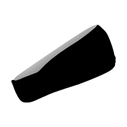 Cooling Headbands Moisture Wicking Womens Sweatband & Sports Headband | Workouts Cardio Running Yoga (Black) by Bani Bands (Image #8)