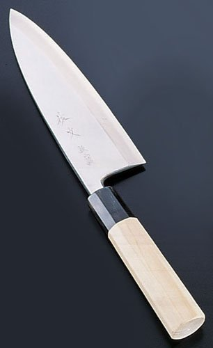 Three specular finishes Deba Knife 18 cm