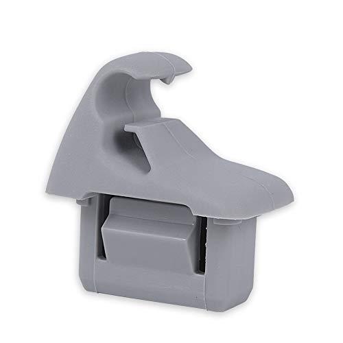runmade Gray Sun Visor Hook Clip Bracket Hanger for Mitsubishi Evolution 8/Evolution -
