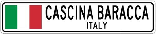 SCINA BARACCA, ITALY - Italy Flag City Sign - 3x18 Inches Aluminum Metal Sign ()
