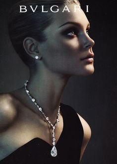 **PRINT AD** With Jessica Stam In Black Dress For 2007 Bvlgari - Jewellery Sale Bvlgari