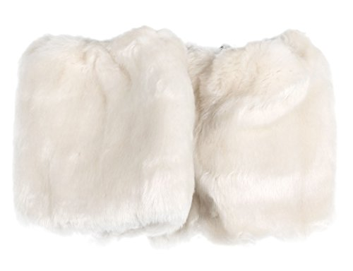 Fashion Sexy Legging Socks Soft Faux Fur Ankle Leg Warmers Fluffies Shoes Sleeve Cover New Without Tags (Beige (White Fluffy Leg Warmers)