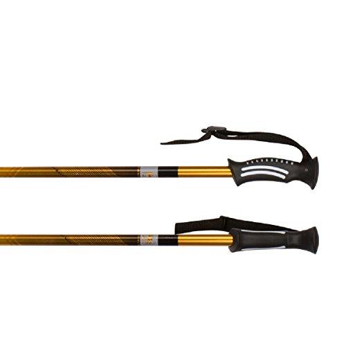 TREK PRO Hiking Poles - 1 Pair - Trekking / Walking / Climbing - 100% Tungsten Carbide Tips, Ultralight, Adjustable Height, Anti-Shock