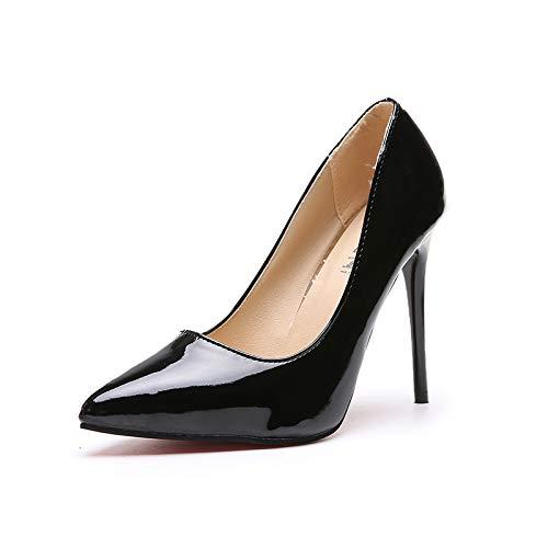 HOESCZS Damenschuhe Einzelschuhe Damen Herbst Heel Stiletto Lackleder High Heels Heels Heels Spitzenkopf 41 44 Large Größe B07JQL7ZK6 Sport- & Outdoorschuhe Neues Design 6295a0
