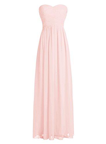 Dressystar Robe de demoiselle d'honneur/de soirée longue formelle Taille 36 Rose