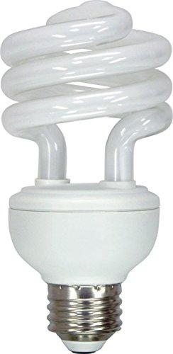 GE Lighting 74200 Energy Smart Spiral CFL 20-Watt (75-watt replacement) 1250-Lumen T3 Spiral Light Bulb with Medium Base, 1-Pack (Renewed)