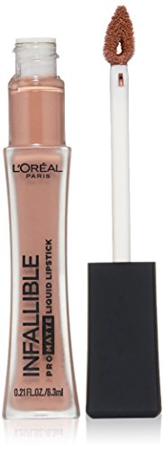 L'Oreal Paris Makeup Infallible Pro-Matte High Pigment, Long Wear Liquid Lipstick, 354 Nudist, 0.21 fl. oz.