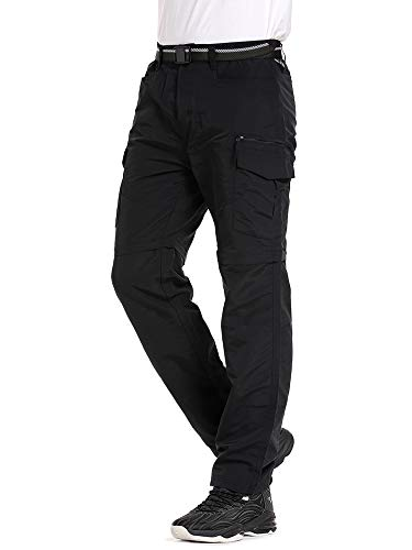 Jessie Kidden Mens Hiking Stretch Trousers Convertible Quick Dry Lightweight Zip Off Outdoor Fishing Walking Travel…