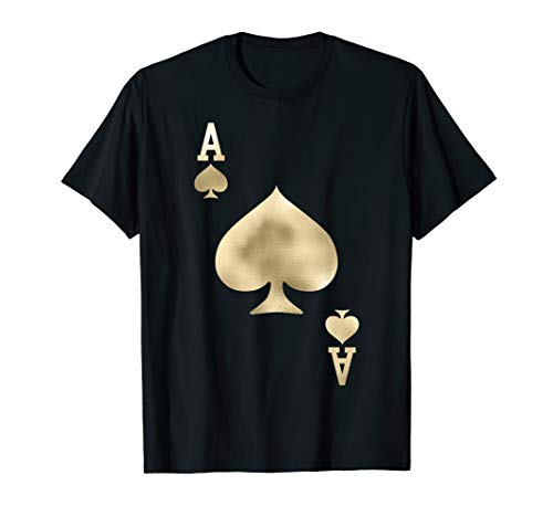 - Ace of Spades - Playing Card Halloween Costume T-Shirt