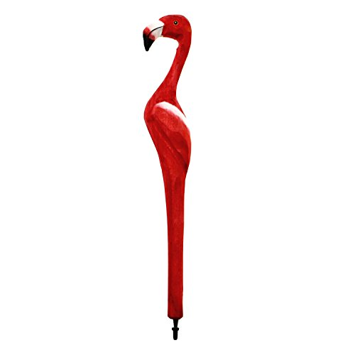 Cimogifts Wooden Animal Carving Ballpoint Pen,Creative Hand Crafted Ballpoint Pens,Great Gifts for Child and Friends,9 Inch, Flamingo Design (Pens Hand Wood Crafted)
