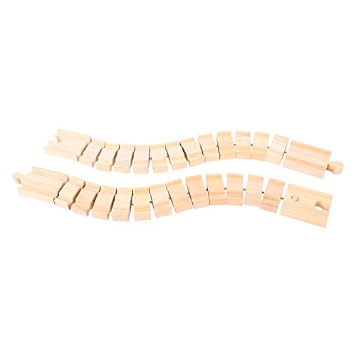 - Bigjigs Rail Wooden Crazy Track (Pack of 2) - Other Major Wooden Rail Brands are Compatible