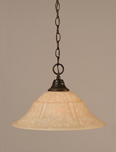 1 Light Any Chain Pendant Finish: Dark Granite, Size: 16