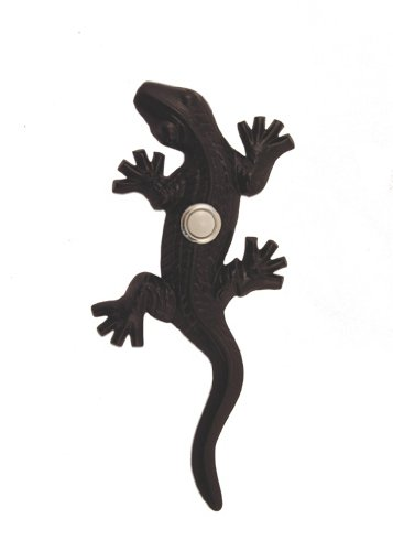 Gecko Doorbell - Brass Gecko Doorbell in Black Finish