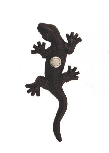 Brass Gecko Doorbell in Black Finish ()
