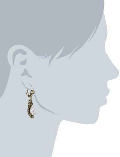 Sorrelli Ornate Teardrop Crystal Antique Drop Earrings