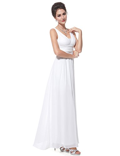 en Blanc Ever V de Empire Robe Style Double Pretty col Soiree de 08110 ZqWxIRA7wq