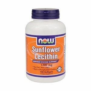 NOW Foods lécithine de tournesol sans soja sans OGM, 1200mg Capsules 100 EA,