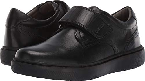 Geox RIDDOCK BOY 4 Velcro Dress Sneaker Shoe School Uniform, Black Oxford, 33 Medium EU Little Kid (2 US)