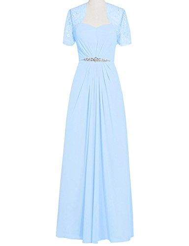 VaniaDress Women Long Mother Of The Bride Dress With Jacket V095LF Sky Blue US18W from VaniaDress