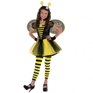 Children's Totally Bumble Bee Costume Size Medium (Bumblebee Costume For Girls)